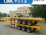 Cimc Brand Two or Three Axle Container 40FT Flat Bed Trailer Dimensions