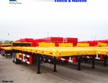 Hot Sale 40FT Container 3 Axles Flat Bed Semi Trailer