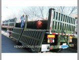 3 Axles 40FT Dropside Container Semi Trailer for Sale