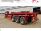 3 Ejes Personalized Container Carrier Flat Bed Trailer of 2*20FT /40FT