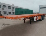2 Axles 20FT 40FT Flatbed Container Semi-Trailer for Sale