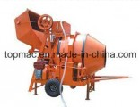 Diesel Concrete Mixer Wire Rope Hoisting Tipping Hopper (JZR350)