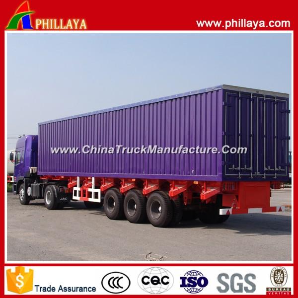 Hot 3 Axles Cargo Transport Detachable Van Trailer