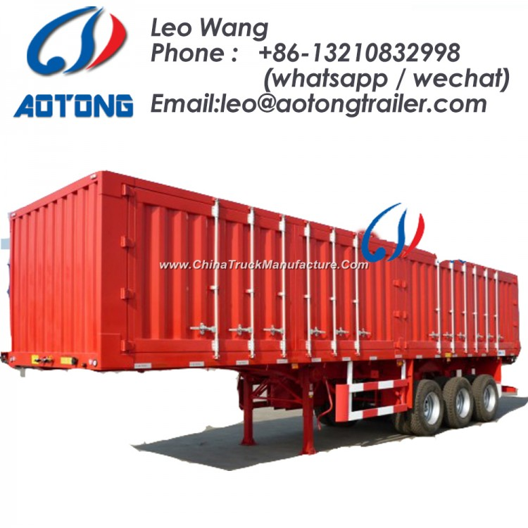 Tri-Axle Van Semi Truck Trailer for Coal/Sand/Bulk Food Transportation (LAT9400XXY)