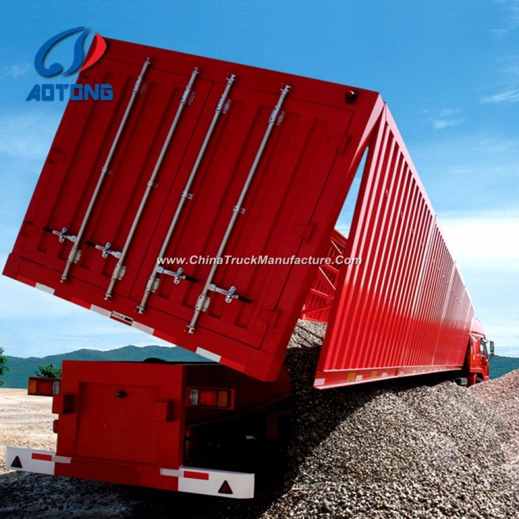 China Manufacture Heavy Duty Side Container Trailer/Dump Semi Trailer