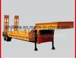 2 Axles Gooseneck Low Bed Lowbed Stainless Steel Semi Trailer Air Suspension