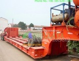 Front Load End Rear Ramp Lowbed Semi Trailer