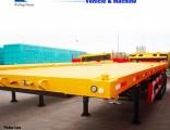 Three Axle 60ton Low Platform Low Flat Bed Semi Trailer