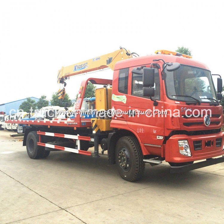 Good Quality 190HP 4X2 10mt Road Flatbed Wrecker for Sales