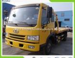 Low Price FAW 4ton 5ton Flatbed Wrecker Tow Truck