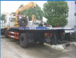 Sinotruk HOWO Flatbed Truck Mounted Crane 4X2 Flatbed Road Wrecker Truck