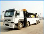 HOWO 12 Wheeler 360 Degree Rotator Wrecker Towing Truck 50 Tons Wrecker Truck for Sale