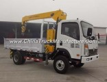 Sinotruk Cdw 4X2 Diesel Engine 12 Ton Mounted Truck Crane for Sale