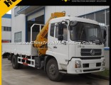 Dongfeng 5 Ton Knuckle Boom Truck Mounted Crane for Sale