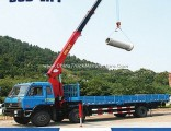 Hydraulic Telescopic Boom Truck Mounted Crane with Grab Buck