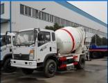 Sinotruk Wangpai 4X2 6 Wheeler 5m3 Concrete Mixer Truck Smal