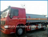 Heavy Duty Sino Truck HOWO 4X2 266HP Oil Transport Truck 15000liters Fuel Tank Truck for Sale