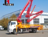 with 21-38m Boom Bracket Truck-Mounted Concrete Pump