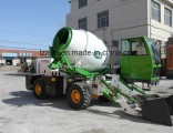 Construction Equipment Mobile Self Loading Concrete Mixer with Pump