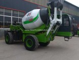 2.6 Cube Meter Construction Apparatus Mobile Self Loading Concrete Mixer with Pump