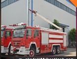 China HOWO 6*4 16mt High Jet Water Foam Fire Fight Truck