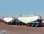 Hydraulic Transporter Bulk Cargo Coal Rock Sand Cement Van Side / Rear Dump Trailer Truck Special Ve