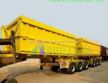 Double 3 Axles Side Rear Dump Semi Trailer Truck