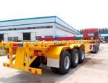 50t Capacity Tri-Axles Container Semi Trailer with Free Parts