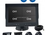 """Harvesters Parts Ahd 9"""" Quad View Rearview Camera for Freight Hgvs, Municipal, Garbage Truck, T"""