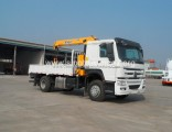 Made in China Factory Sale HOWO 15 Tons Truck Mounted Crane with 3 Tons Crane