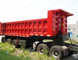 80ton 100ton 3 Axles Dump Tipper Semi Trailer Truck Trailer