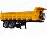HOWO 50t Gooseneck Self Dump Semi Trailer/Tipper Truck Trailer