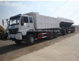 Sinotruk 6X4 Side Dump Truck with Full Trailer