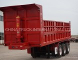 Sino Heavy Truck Trailer 70ton Tipping Semi Dump Truck Trailer 3 Axel Tipper Semi Trailer