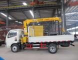 Dongfeng HOWO 4X2 3tons Mini Hydraulic Telescopic Pickup Truck-Mounted Truck with Crane