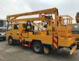 16m 10 Ton 20 Ton Hydraulic Rising Boom Bucket Construction Work Platform Truck