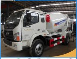 6-Wheel Small Forland 3.5 Cubic Meters Concrete Mixer Truck
