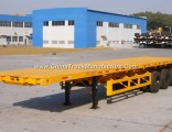 3 Axles 50 Tons Flatbed Containe Semi Trailer for Sale