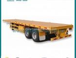 2-Axle Flatbed Container Semi Trailer
