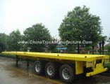 3-Tri-Axle 20-40FT 40-60ton Flat Bed Semi Trailer