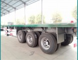Sinotruk Huawin Flatbed Semi Trailer with 3 Axles