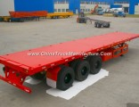 3 Axles Flatbed Semi Trailer with Container Lock