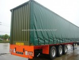 China Supplier 3-Axle 50 Tons Curtain Side Semi Trailer for Sale