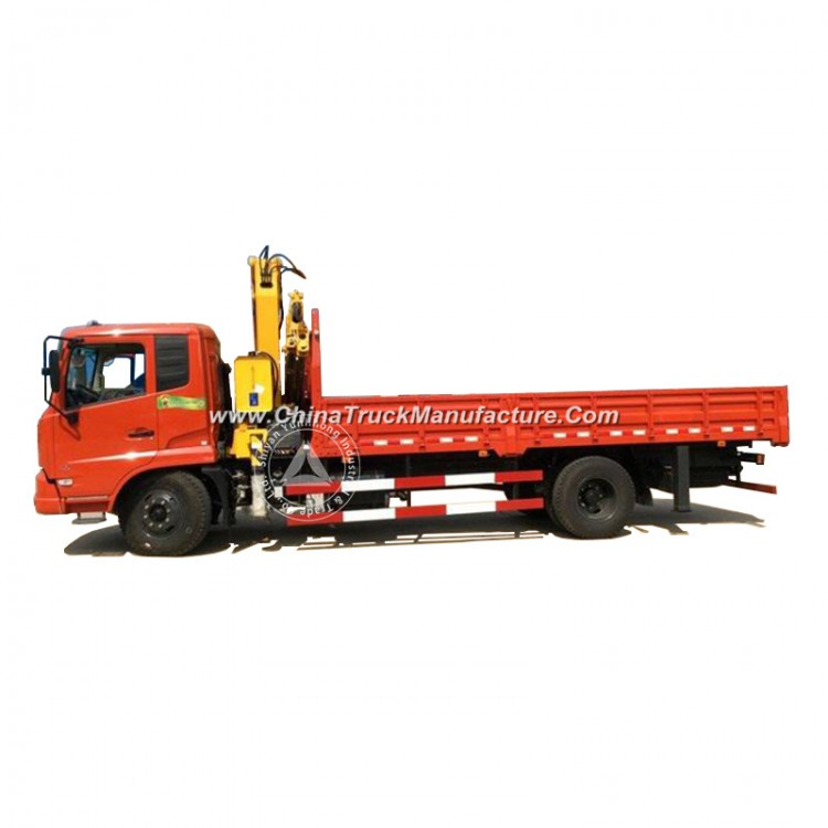 Dongfeng Lifting Height 12.5m Working Range 10m 8 Ton (8t) 4 Arms All Rotation Knuckle Boom Crane 4X