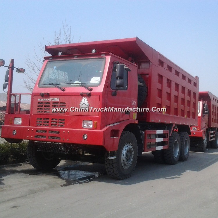 6X4 Sinotruk HOWO Mine Dump Truck for 80t Loading Weight for Big Stone