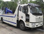 FAW 10tons Rotation Towing Two Car Carrying Truck Integrated Carrier Wrecker