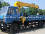 Dongfeng 4X2 5ton Hydraulic Telescopic Boom Mounted Crane Truck