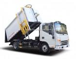 4X2 130HP 7cbm Hang Barrel Type Garbage Compactor Truck