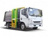 7cbm 8 Ton Yuejin Hang Barrel Type Diesel Garbage Compactor Truck