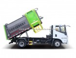 8 Ton 4X2 Yuejin 7cbm Hanging Barrel Garbage Collection Truck